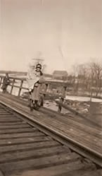 Wooden trestle over Pensaukee River